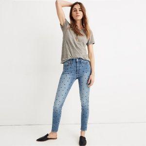 "NWT Madewell 10"" High-Rise Skinny Crop Jeans Heart"
